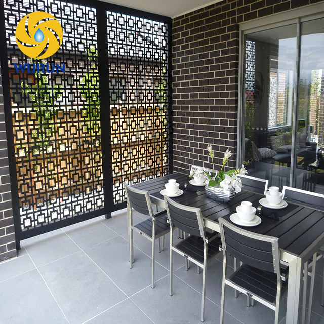 Outdoor Customized Decorative Panel Sheet Metal Outdoor Privacy Screens Laser Cut Wall Panel