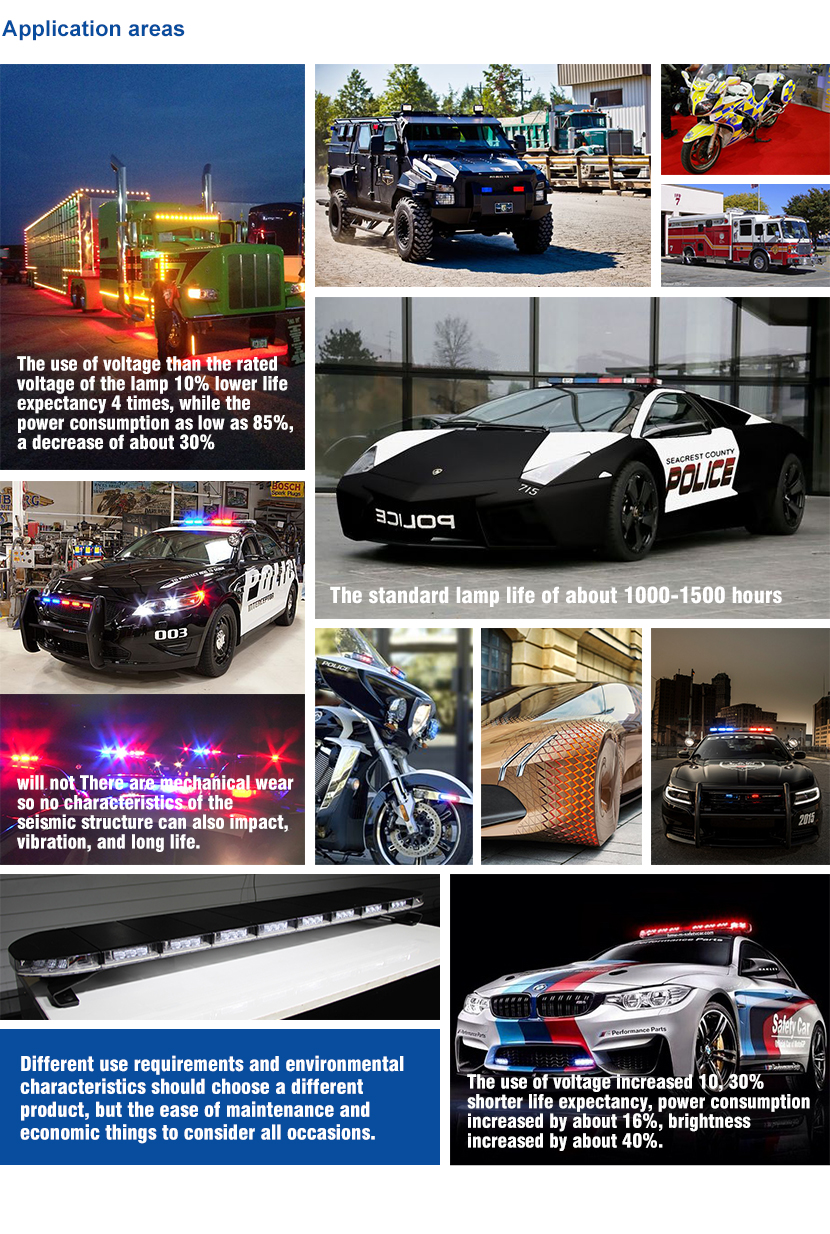 Wholesales led warning strobe lights emergency light bar led car flash lights bar