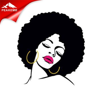 printed heat transfer rhinestone vinyl afro girl custom iron on transfers for t shirts
