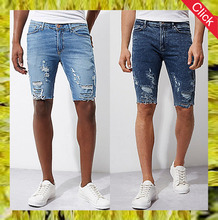Wholesale Latest Summer Soft Fit Slim Mens Jeans Ripped Denim Jean Shorts 2017