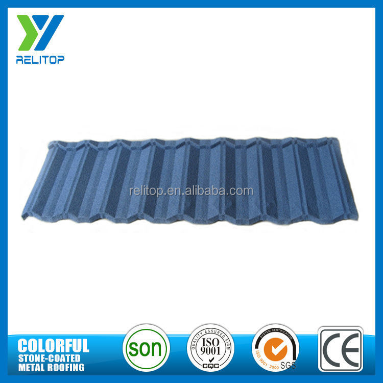Nosen tile stone chip coated metal roof tile,sand coated steel roofing tile