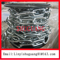 Q195 6MM Zinc Plated DIN763 Iron Link Chain
