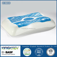 Custom bed rest cool gel cervical support bamboo memory foam pillow