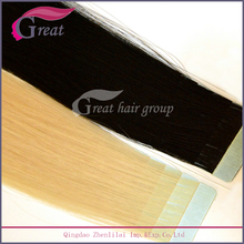 Best Glue Virgin Remy 613 color 100% european hair tape hair extension