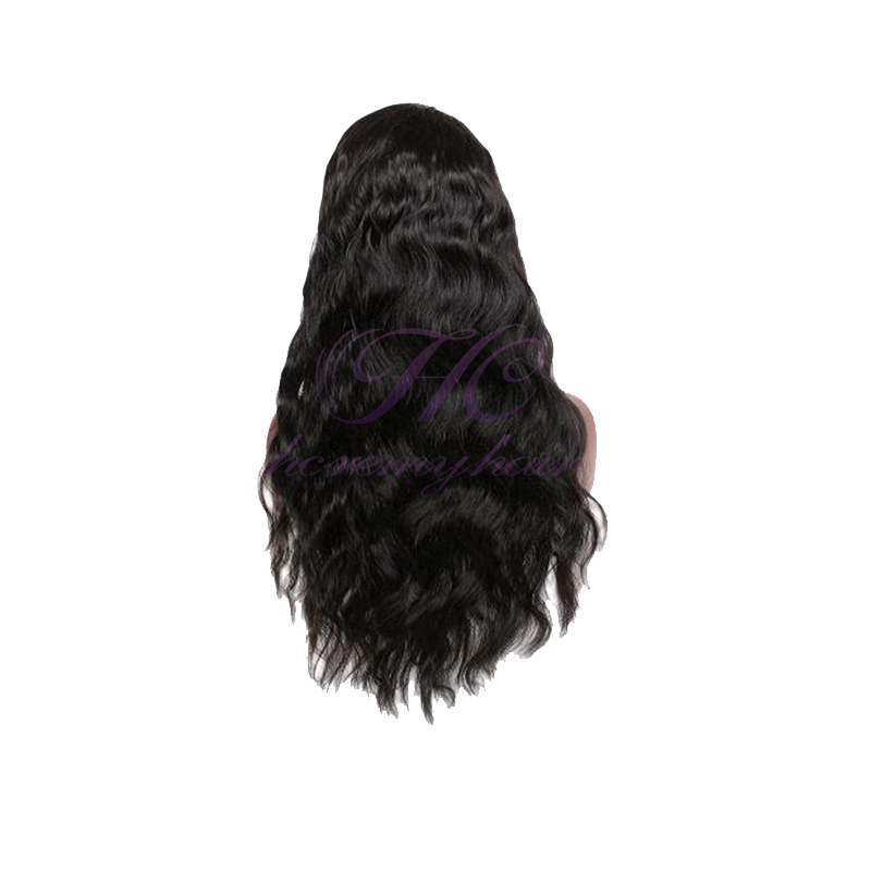 Bigen hair dye black men pineapple wave natural color human hair lace front wig with bangs