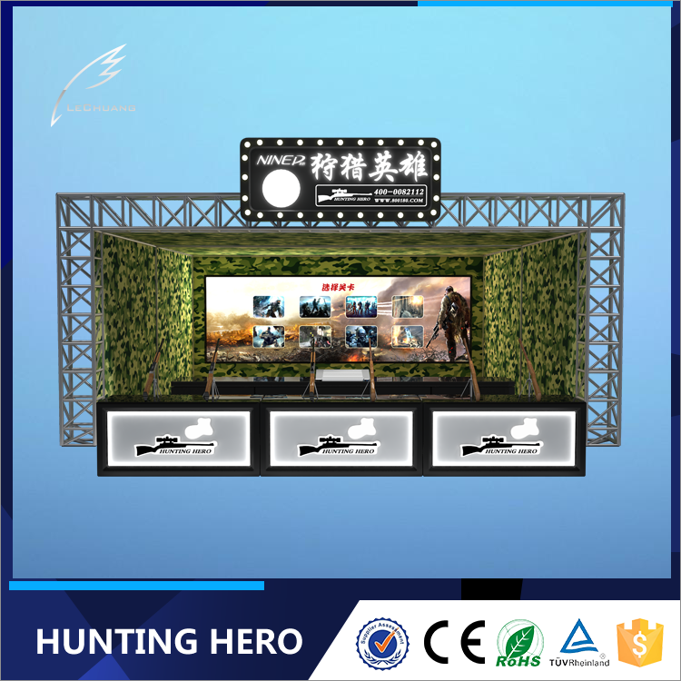 Children game equipment hunting hero 6 players shooting gun machine
