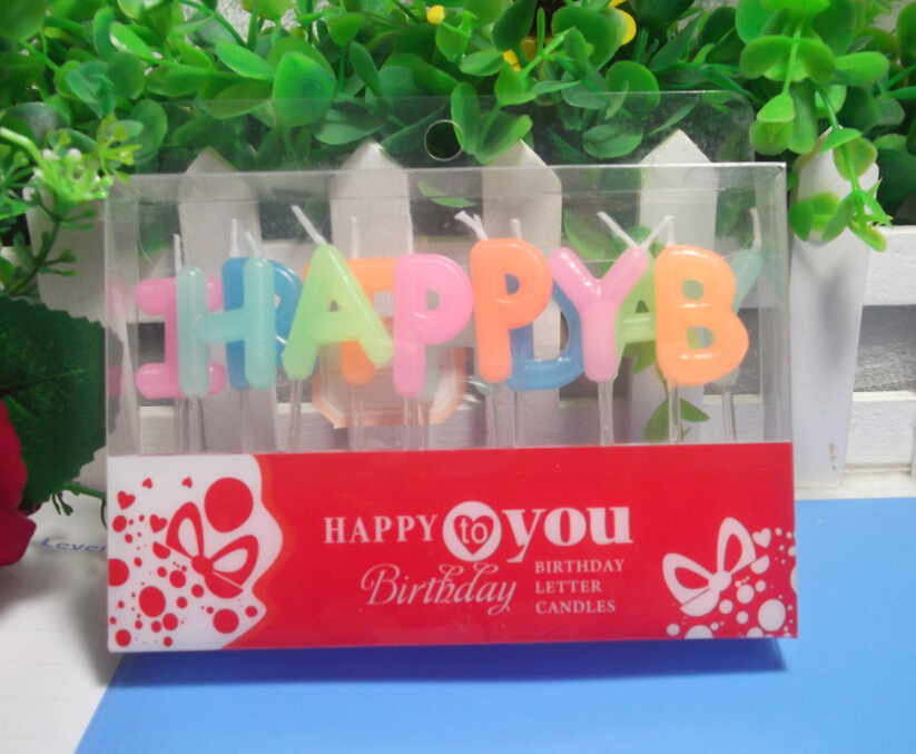 "Jelly color ""HAPPY BIRTHDAY"" shape Candles for Birthday party cake candles party candles"