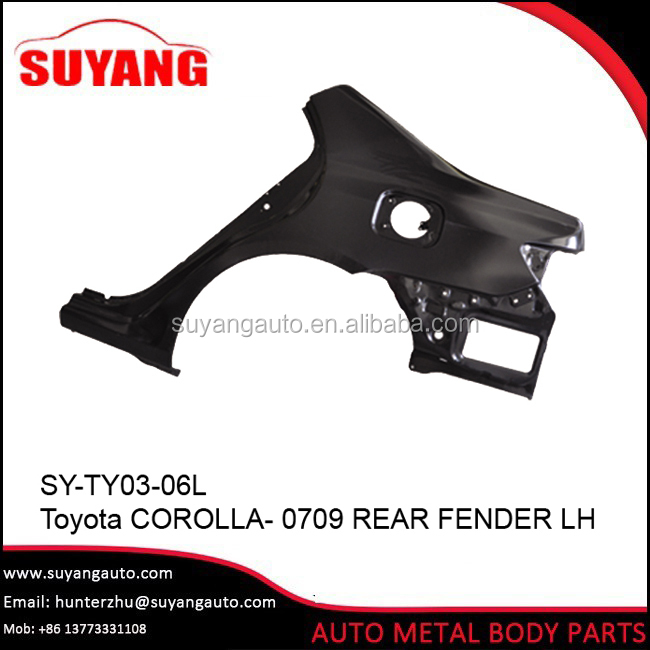 Iron Corolla Rear Fender For Aftermarket Toyota Body Parts