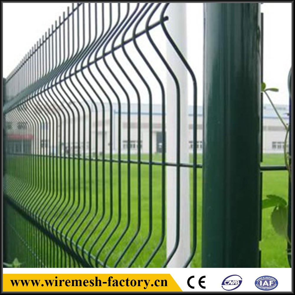 curved pvc coated welded fence panel