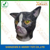 X-MERRY Black Skin Yellow Eyes Monster Cat Ainimal Mask Realistic Latex Face Mask Fancy Dress Costume
