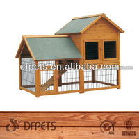 Wooden Rabbit House With Run DFR051