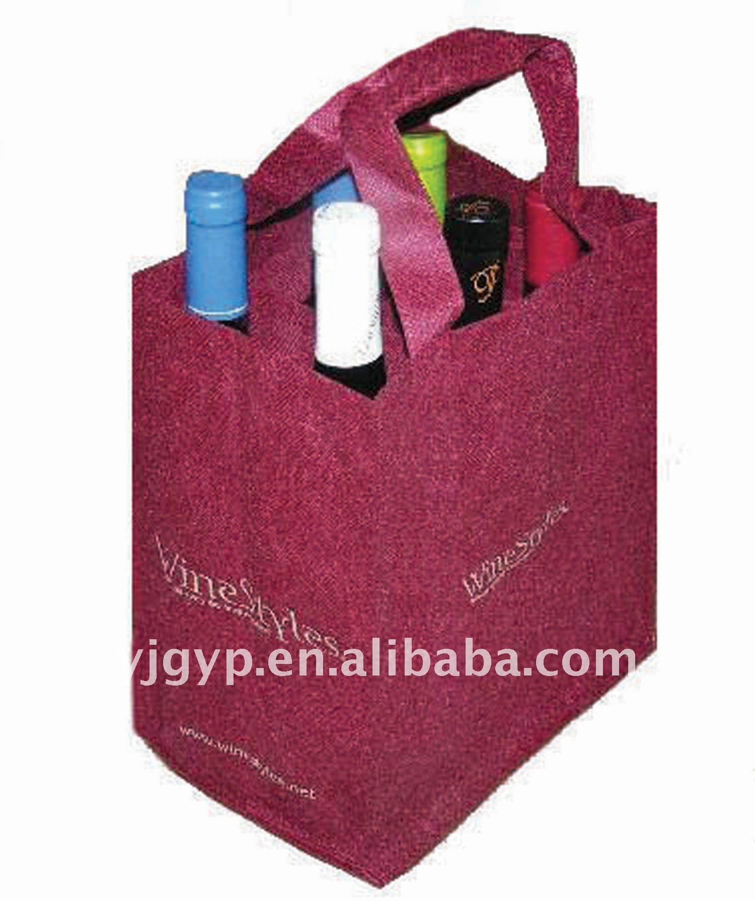 High quality 100gsm non woven wine bottle bag