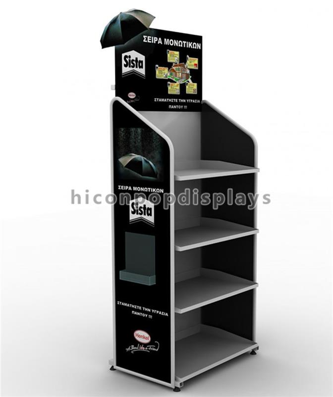 Free Design China Display Stand Manufacturer Metal Point Of Purchase Umbrella Display Stand For Shops
