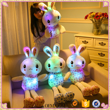 Plush Rabbit Bunny Stuffed <strong>Animal</strong> Soft Flashlight Led Luminous Glow Toy Christmas Birthday Gift Doll For Girlfriend Kid Children