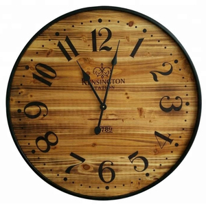 "Pine Wood crafts handmade decorative 26"" Wall Clock"