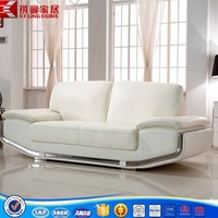 SF-168 big white leather corner sofa