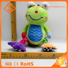 Lovely Soft Cartoon Frog Design Hanging Plush Animal Toy For Baby Gift