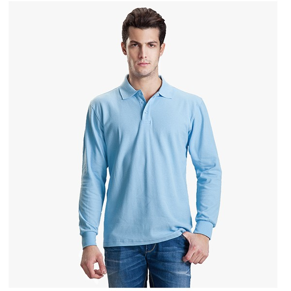 Men Branded Custom Long Sleeve Dri Fit Polo Shirt