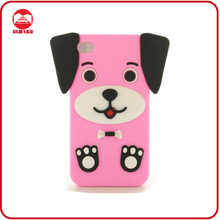 Cute Pink 3D Animal Lucky Puppy Dog Phone Case for Iphone 4 4S 4G