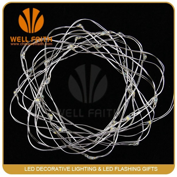 3aa Invisible Battery Operated Wedding Centerpieces Light Up Micro Led Copper Wire String Light ...