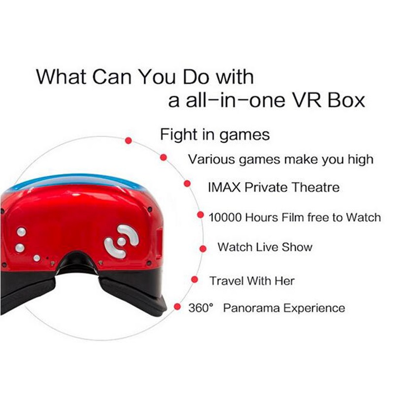 Newest 3D Virtual Reality Glasses Support 3D Movie/Games/Video All In One VR Glasses vr8000