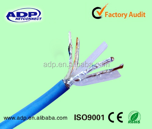 High Speed cat7 cat6a FFTP/SFTP lan cable manufacture