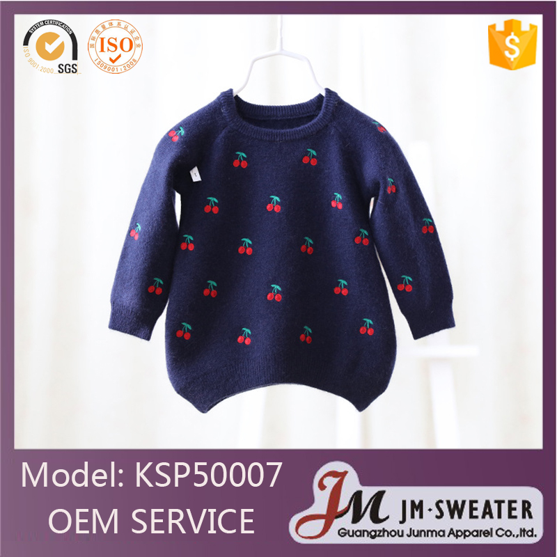 Beautiful style kids winter sweater newborn crew neck pullover baby girls sweaters