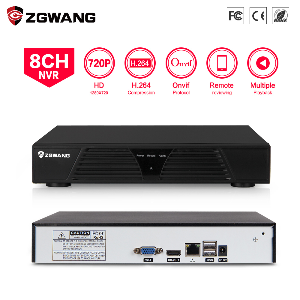 Zgwang Surveillance H.264 Network Video Recorder for 720P IP CCTV Camera 8CH NVR
