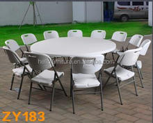 8FT Plastic Folding Round Party Table For Sale