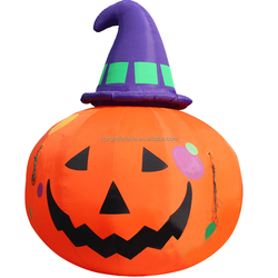 Guangzhou outdoor halloween decoration giant Inflatable halloween smile pumpkin