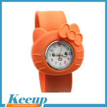 Novelty Style Hello Kitty Silicone Slap Watch Snap Watch