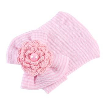 baby Infant girl Hospital Soft Cute Knot knit Nursery Beanie Hat Cap with Big Bow