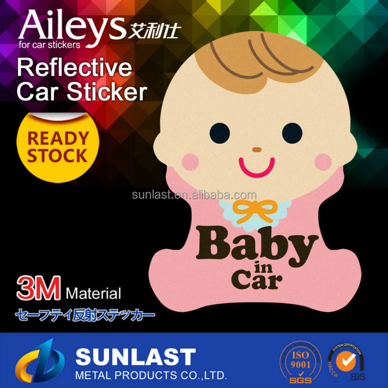 Car body Stickers reflective car sticker Baby on board car sign