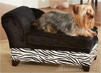 Velvet covered cheap pet dog lounge chair