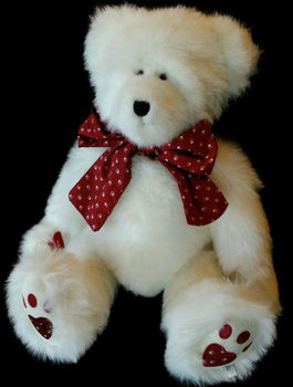 Bowknot valentine day stuffed teddy bear