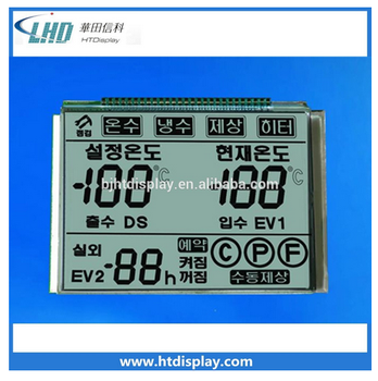 7 segment lcd panel customized monochrome display lcd