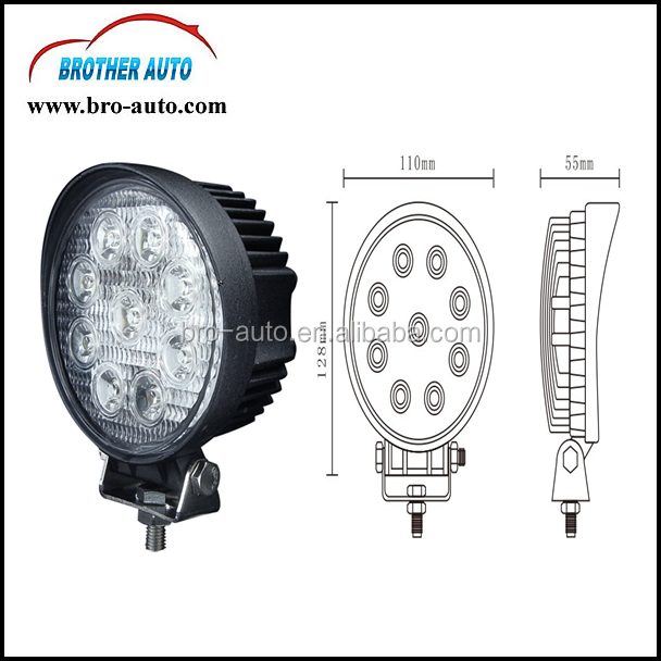 2015 new Good quality METAL 55W 4WD 4x4 LED fog lamp