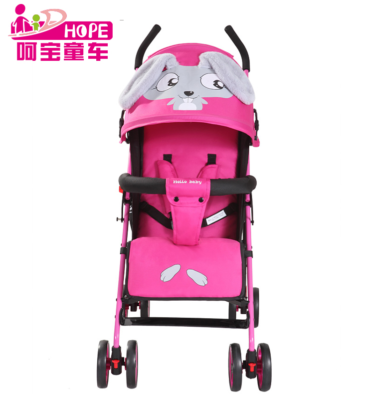 Lovely rabbit cartoon baby pram stroller easy fold durable baby carriage HP-309T