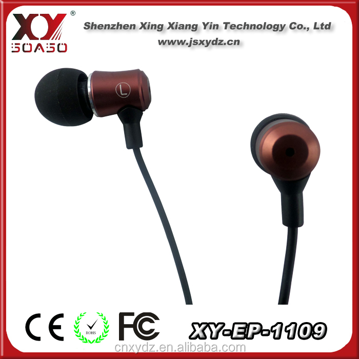 2014 new stereo metal earphone with super bass for apple iphone and Mp3