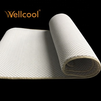 wellcool polyester mesh fabric yoga mat/cooling yoga pad