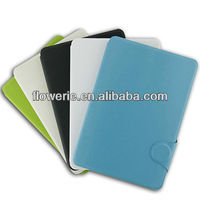 FL078 card pocket stand leather case for ipad mini