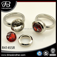 Fashion Screw Stone Changeable Ring