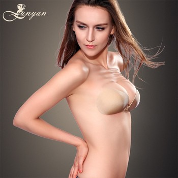 Hot Nude Sexy Invisible Silicone Bra for Tube Dress JX-AB15001X