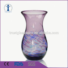 Wholesale Popular Purple Color Stocked Glass Vase For House Decoration