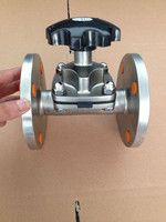 China low rice Stainless steel SS316L single diaphragm seal sanitary flange diaphragm valve