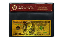 Hot new products for 2015 3D America USA 100 Dollar Banknote, Color Gold banknote With COA Frame For Gift