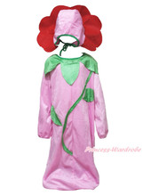 Halloween L/S Pink Flower Floral Kid Child Cosplay School Party Costume 2PC 3-6Y