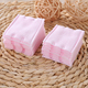 OEM skin care facial makeup remover cotton 100pcs square pink cosmetic cotton pads