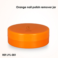 PP orange colored nail polish remover jar