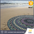 Micro fiber material low cost custom printed your own mandala round towel